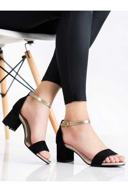 Čierne sandále Goodin kod FL1026B/GO