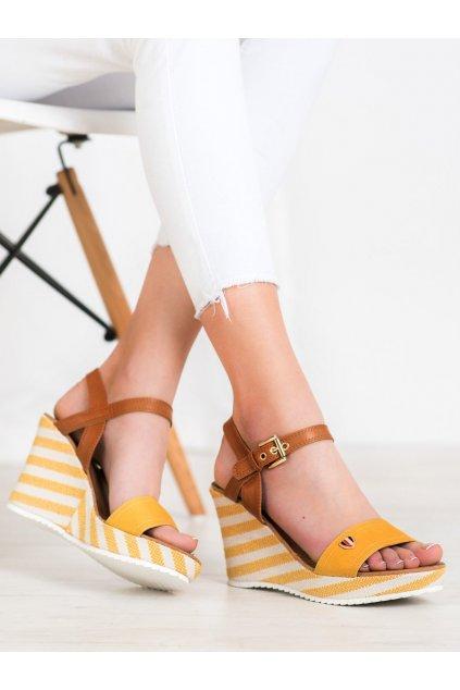 Žlté sandále Goodin kod FL145B-Y