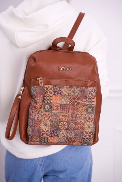 Dámska kabelka hnedá kód kabelky NBAG-I2850-C017 BROWN