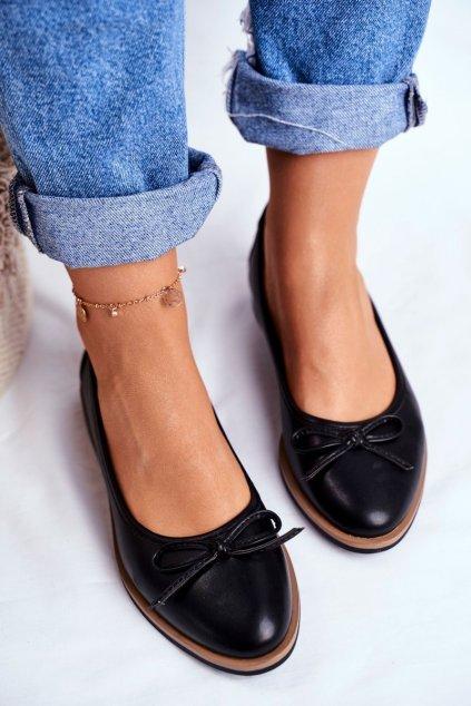 Dámske balerínky farba čierna kód obuvi BL612 BLK PU