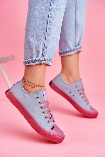 Dámske tenisky farba modrá kód obuvi FF274260 BLUE