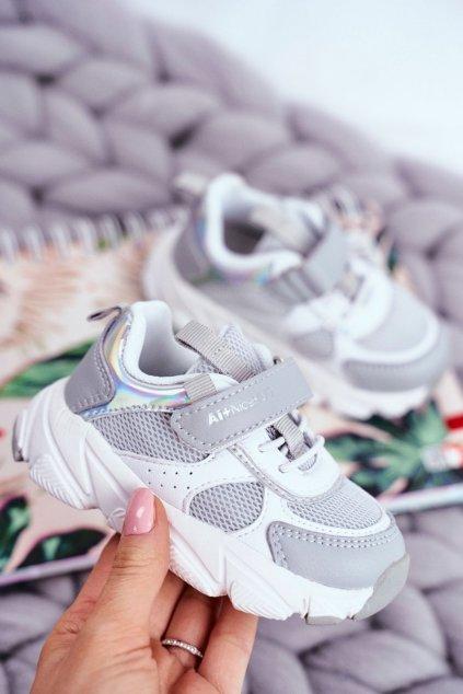 Detské tenisky farba biela kód obuvi B011104349 WHITE/L.GREY