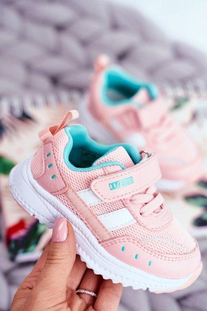 Detské tenisky farba ružová kód obuvi B933104083 L.PINK/MINT