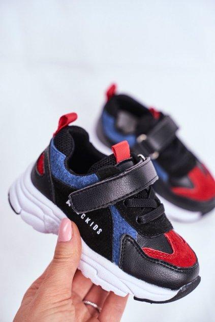 Detské tenisky farba čierna kód obuvi B932104063 BLK/BLUE/RED