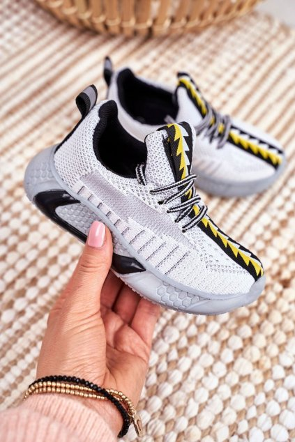 Detské tenisky farba sivá kód obuvi 1741 GREY WHI