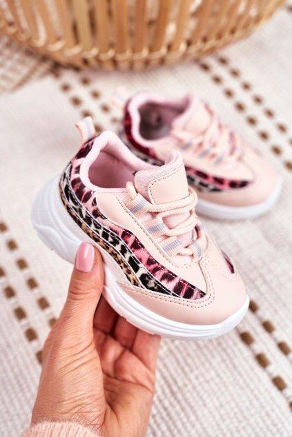 Detské tenisky farba ružová kód obuvi 898 PINK