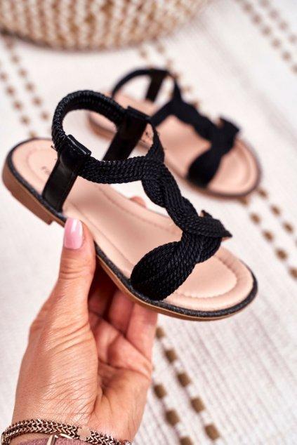 Detské Sandále čierne Lamado