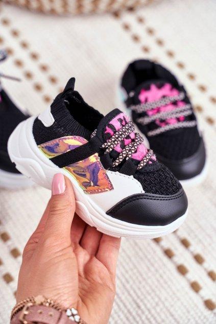 Detské tenisky farba čierna kód obuvi 800 BLK