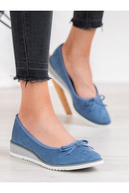 Modré dámske balerínky Goodin kod GD-FL327JE/BL
