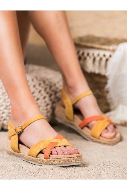 Žlté sandále na platforme Kylie kod K1902607MO
