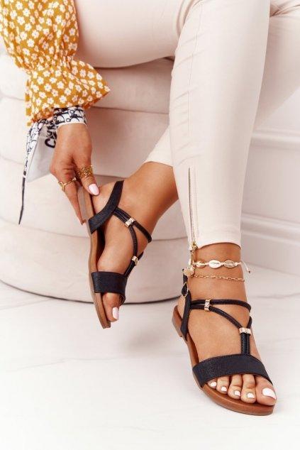 Dámske sandále farba čierna kód obuvi 5541-120 BLK