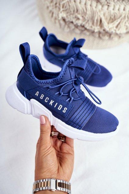Detské tenisky farba modrá kód obuvi B012310074 NAVY