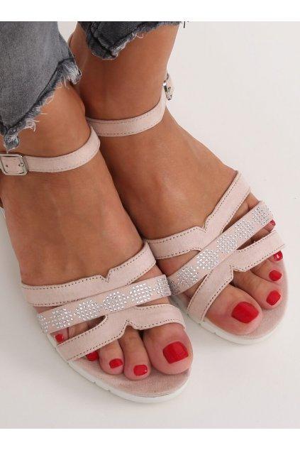 Damske sandále ružové na platforme NS113P