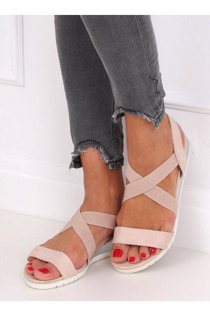 Damske sandále ružové na platforme NS116P
