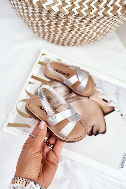 Detské sandále farba sivá kód obuvi 269-B SILVER