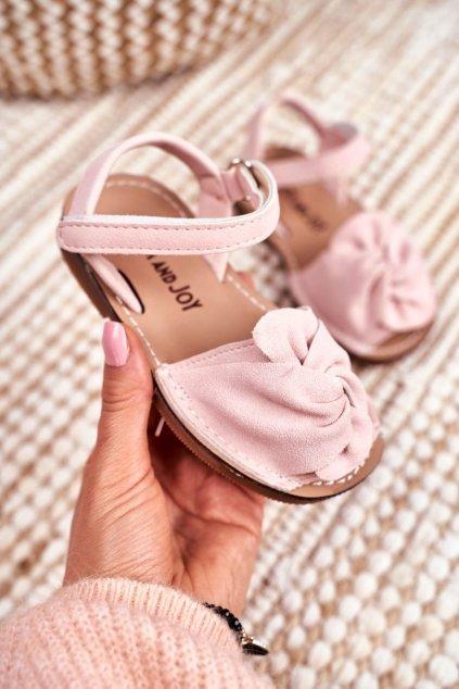 Detské sandále farba ružová kód obuvi 233 3A 3B PINK