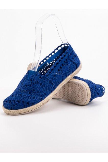 Modré dámske tenisky - Sweet shoes JX1020-7BL