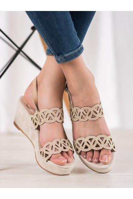 Hnedé sandále Aclys kod A119-07-01BE