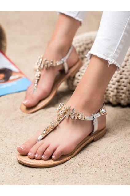 Sivé sandále Small swan kod SK-54S