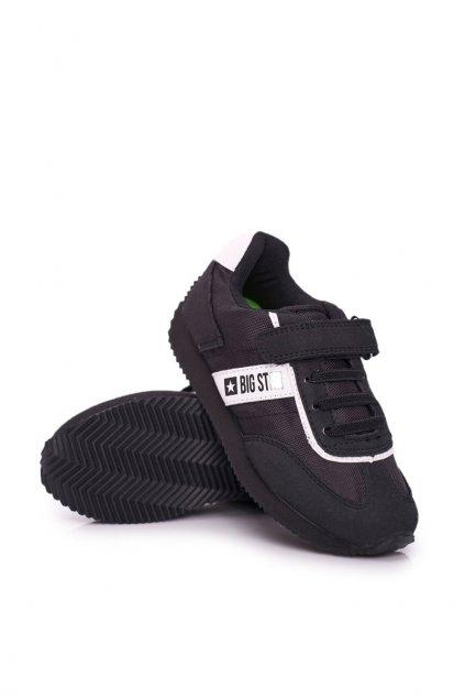 Detská Sportovni Obuv B. Star na suchý zips čierna NJSK FF374134 Black