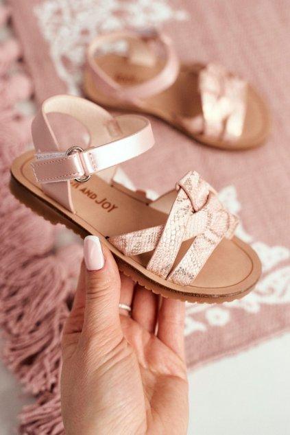 Detské Sandále pre Dívky vzor Had Ružové Lilo 260-2B Pink