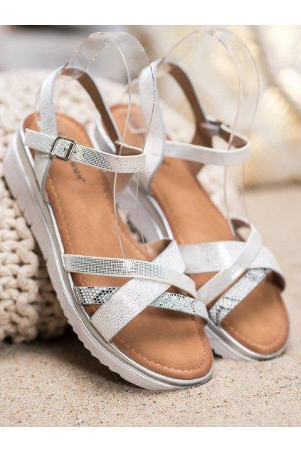 Sivé sandále Small swan kod SK-66S