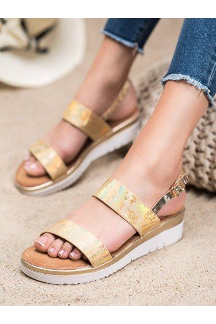 Žlté sandále Small swan kod SK-65GO