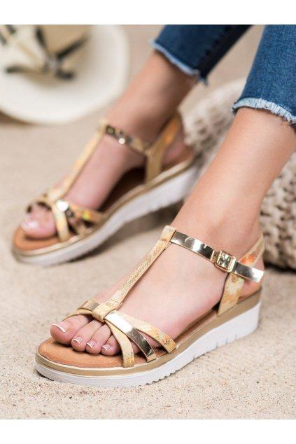 Zlaté sandále na platforme Small swan kod SK-68GO