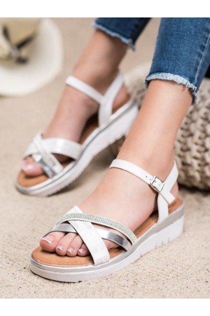 Sivé sandále Small swan kod SK-67S