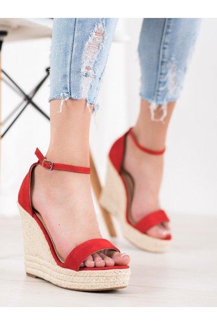Červené sandále Shelovet kod NGSJ-3R