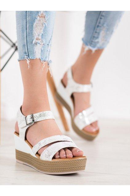 Biele sandále na platforme Sea elves kod 6430W