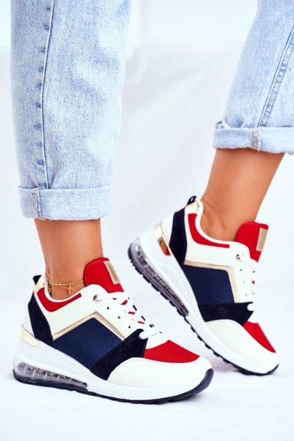 Dámska športová obuv červené topánky Sparks