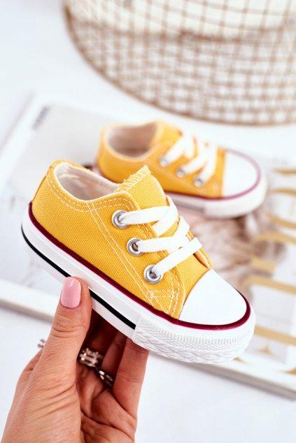 Detské tenisky farba žltá kód obuvi 860 YELLOW