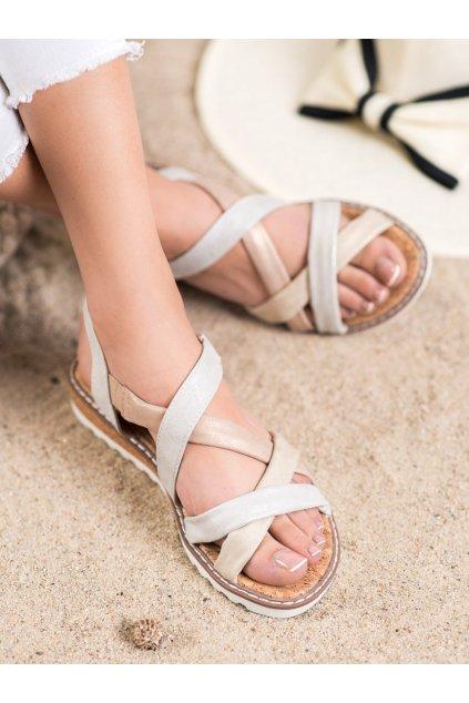 Viacfarebné sandále s plochou podrážkou Kylie kod K2002105PLA