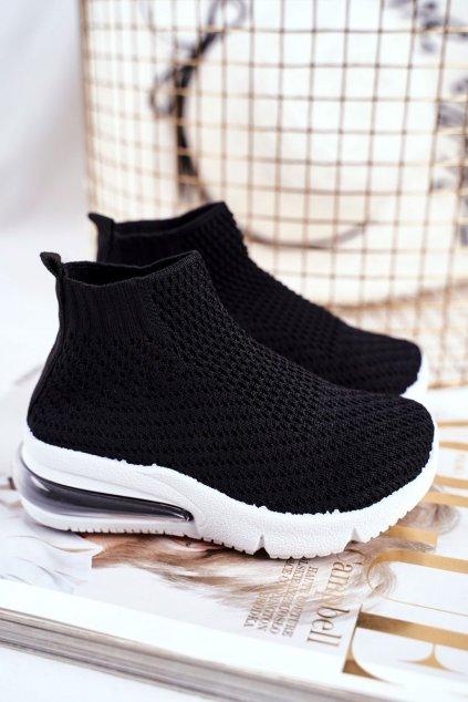 Detské tenisky farba čierna kód obuvi 669-A BLK