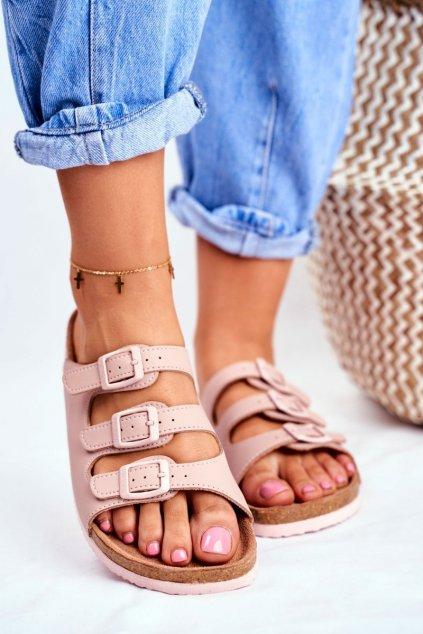 Dámske šľapky farba ružová kód obuvi FF274627 NUDE