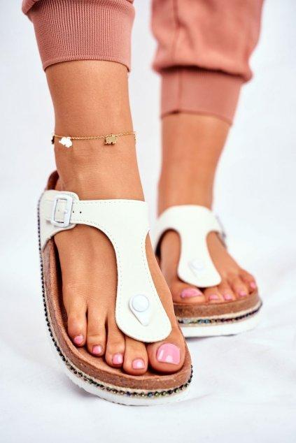 Dámske šľapky farba biela kód obuvi FF274631 WHITE