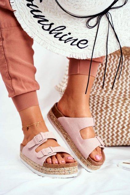 Dámske šľapky farba ružová kód obuvi FF274669 PINK
