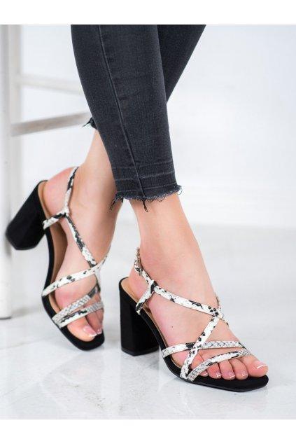 Zvierací motív sandále na podpätku Kylie kod K2012502NE