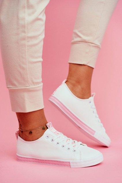 Dámske tenisky farba ružová kód obuvi LA70 PINK