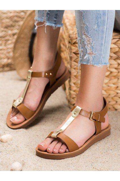 Hnedé sandále Filippo kod DS105/20BR/GO