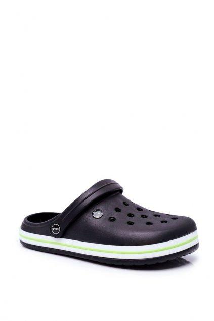 Pánske šľapky farba čierna kód obuvi B919-2 BLK GREEN
