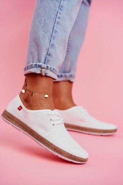 Dámske espadrilky farba biela kód obuvi FF276043 WHITE