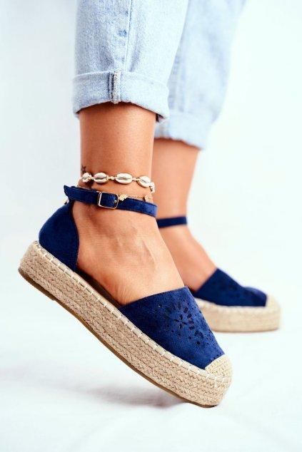 Dámske espadrilky farba modrá kód obuvi PK02 NAVY