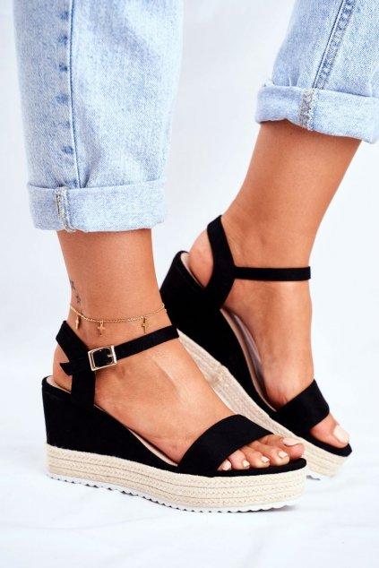 Dámske Sandále na platforme čierne Merdoe