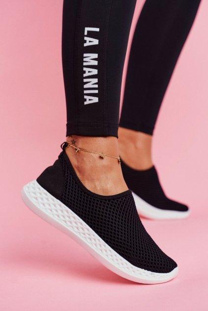 Dámska športová obuv Slip-on čierne Gestacio