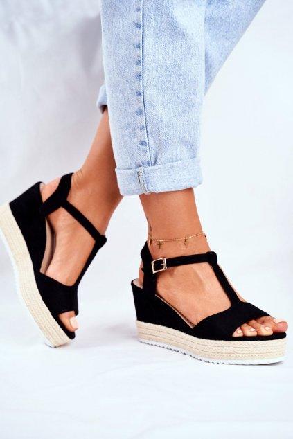 Dámske Sandále na platforme čierne Papillon