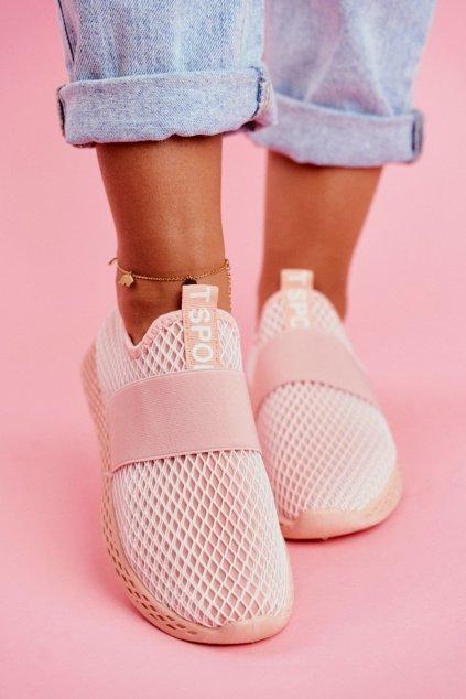 Dámska športová obuv Slip-on Ružové La Fiesta