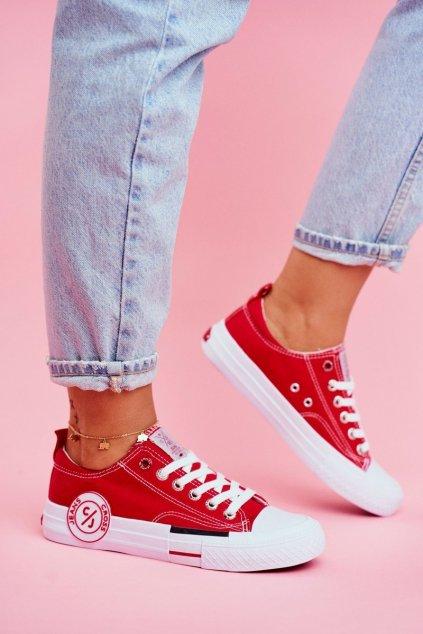 Dámske tenisky farba červená kód obuvi FF2R4074C RED