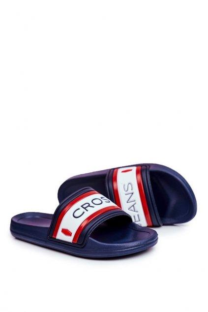 Pánske šľapky farba modrá kód obuvi FF1R4092 NAVY